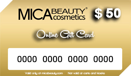 $10 Off Mica Beauty Gift Card $50