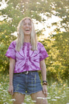Purple Spider Tie Dye Tee/Crop