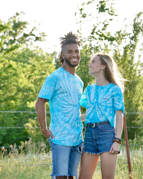 Blue Spider Tie Dye Tee/Crop