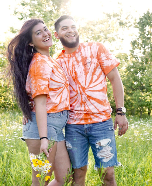 Orange Spider Tie Dye Tee/Crop