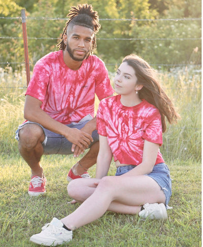 Red Spider Tie Dye Tee/Crop