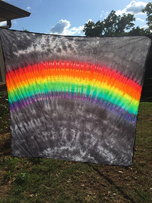 Gray Rainbow Tapestry