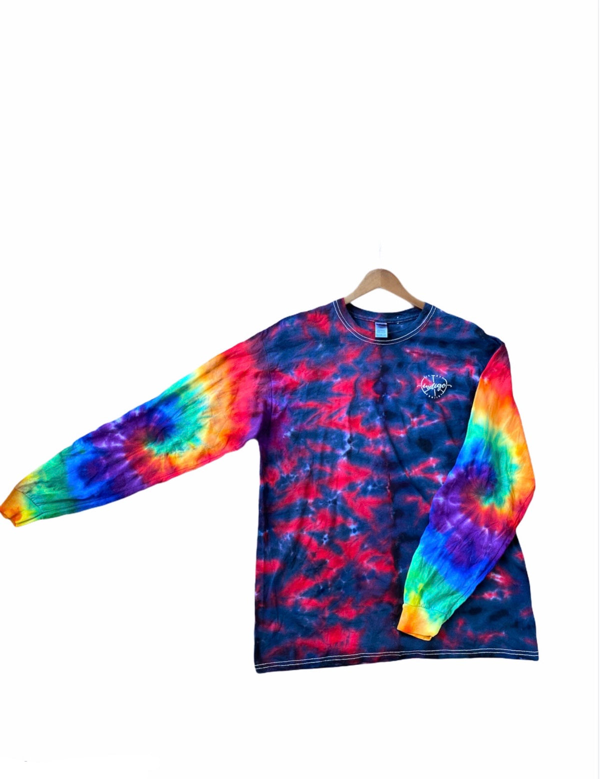 Double Swirl Sleeve Long Sleeve Tee
