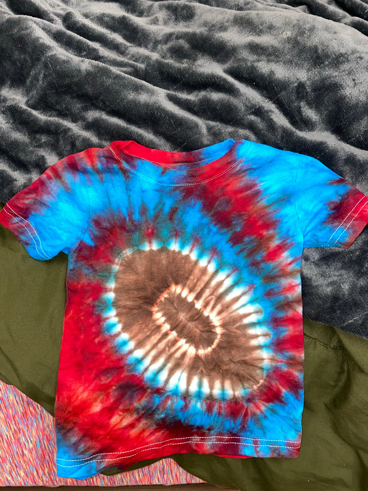 Football Tie Dye Toddler Tee