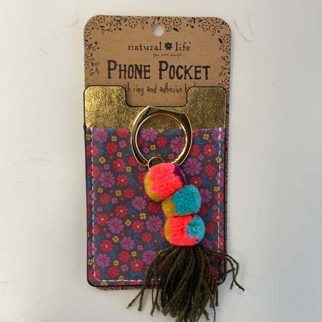 Floral Tassle Phone Pocket Ring