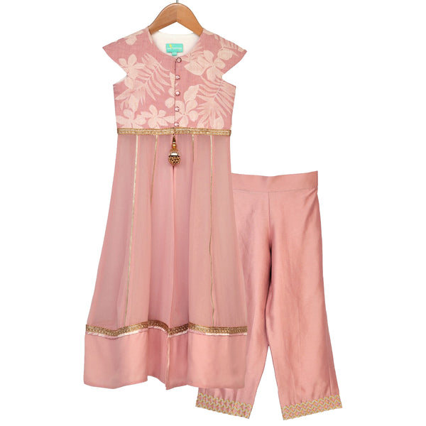 Dusty Rose Anarkali Set