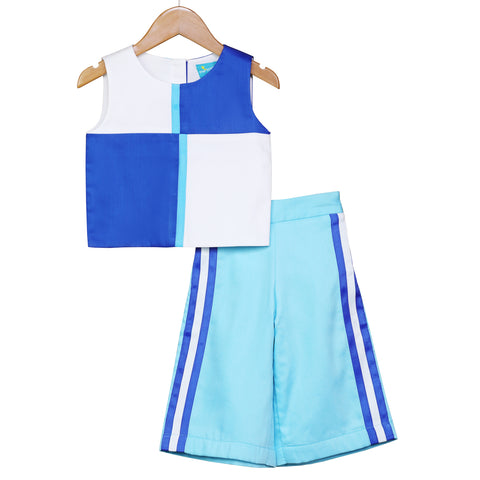 Peppy Vibes Crop Top & Culottes