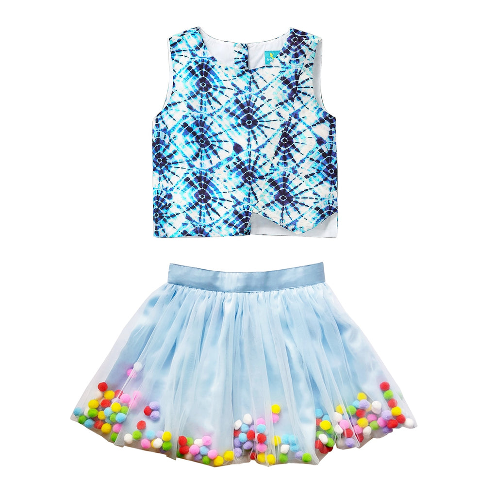 Pom Pom Wiggle Skirt & Crop Top