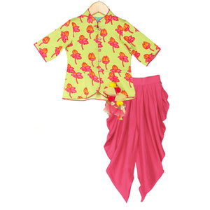 Lotus Garden Dhoti Set