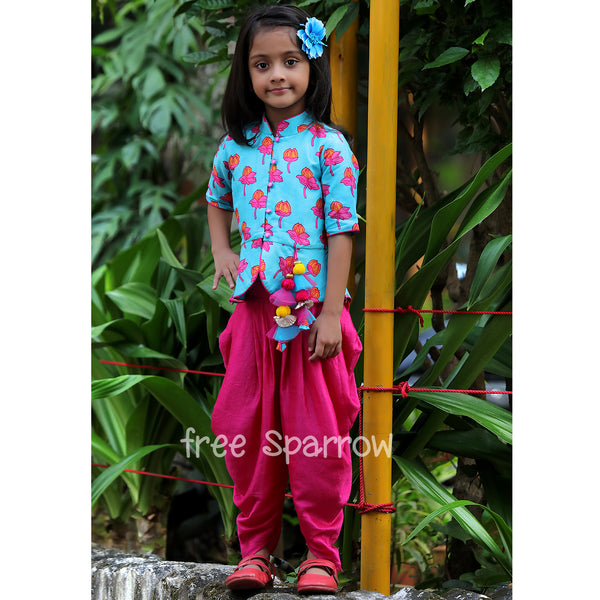 Lotus Pool Dhoti Set