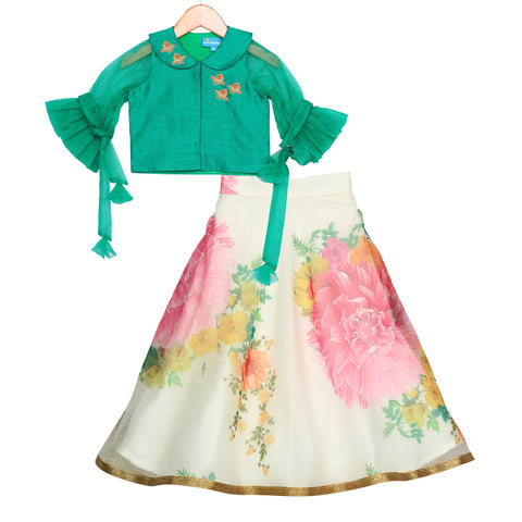 Arctic Bloom Lehenga Set