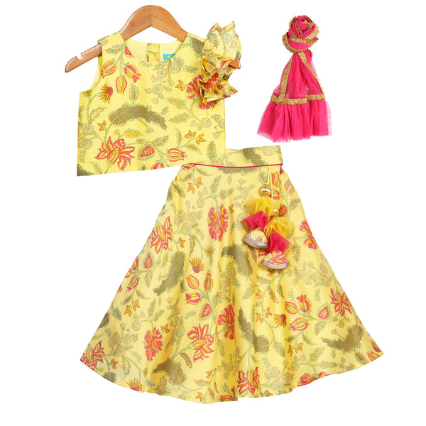 Marigold Yellow Lehenga Set