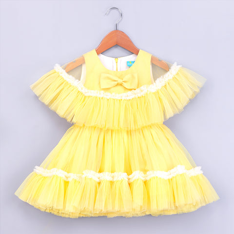 Magical Yellow Cape Dress