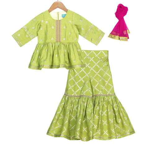 Lime Punch Sharara Set