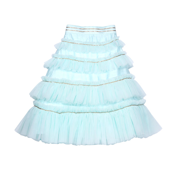 Aqua Waterfall Skirt Set