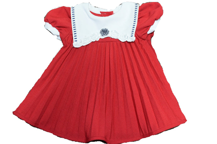 Red and white vintage dress 12-18 months