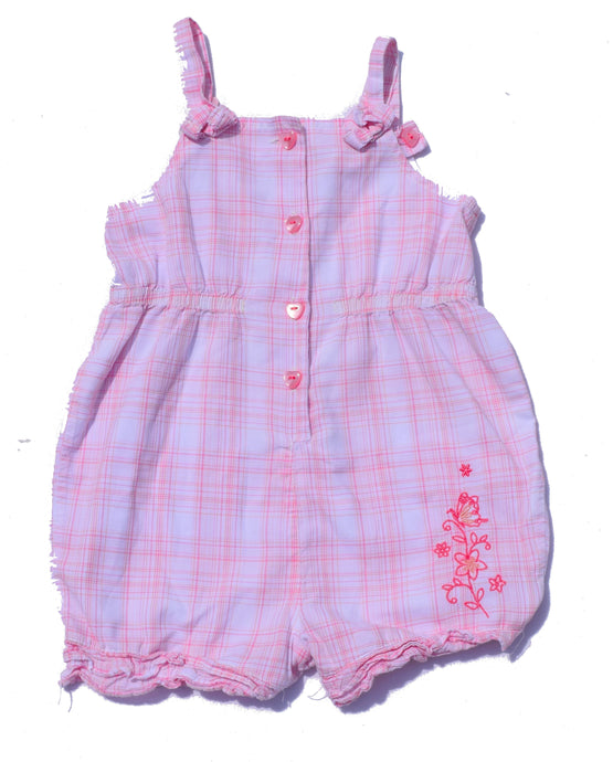 Pink and White romper 12-18 Months