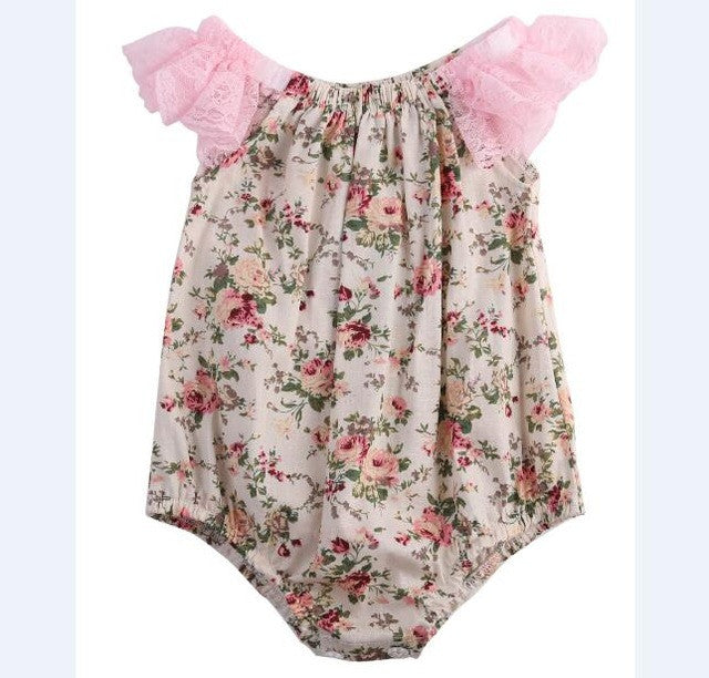 baby girl floral romper (4 month-2T) (OE)