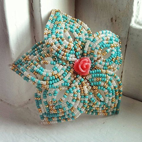 Large Beaded Hair Flower
