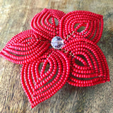 Large Beaded Hair Flower and Brooch Pin