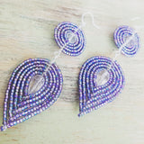 Double Layer Glamour Beaded Earrings