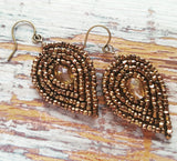 Special Edition Bronze Beaded Earrings