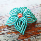 Small Beaded Hair Flower
