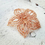 Small Beaded Hair Flower and Brooch Pin