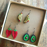 Teeny Tiny Beaded Taco Tuesday Earring Gift Set