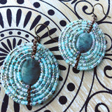 Gemstone Mandala Beaded Earrings