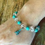 Turquoise Dreams Beaded Stretch Bracelet Kit