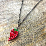 Teeny Tiny Beaded Taco Tuesday Necklace Gift Set