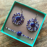 Gemstone Mandala Earring and Bracelet Gift Box Set