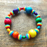 Children's Rainbow Beaded Stretch Bracelet Kit
