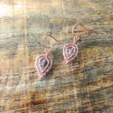 Tiny Beaded Petal Earrings