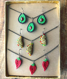 Teeny Tiny Beaded Taco Tuesday Complete Collection Earring and Necklace Gift Box Set