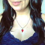Teeny Tiny Beaded Chili Pepper Necklace