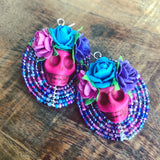 Dia De Los Muertos Statement Calavera Earrings