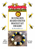 Buzzing Bees Beaded Stretch Bracelet Kit for Kids