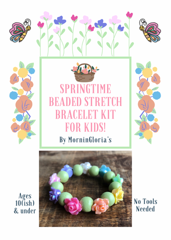 Springtime Beaded Stretch Bracelet Kit for Kids