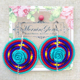 Como La Flor Beaded Statement Earrings