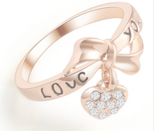 Love Heart Bow Ring - Chloe's Jewelry Box