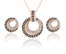 Round Studs Rose Gold Crystal Set - Chloe's Jewelry Box