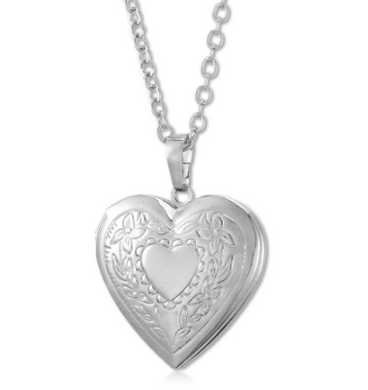 Romantic Photo Heart Locket - Chloe's Jewelry Box