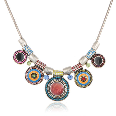 Statement Rhinestones Maxi Bohemian Necklace - Chloe's Jewelry Box