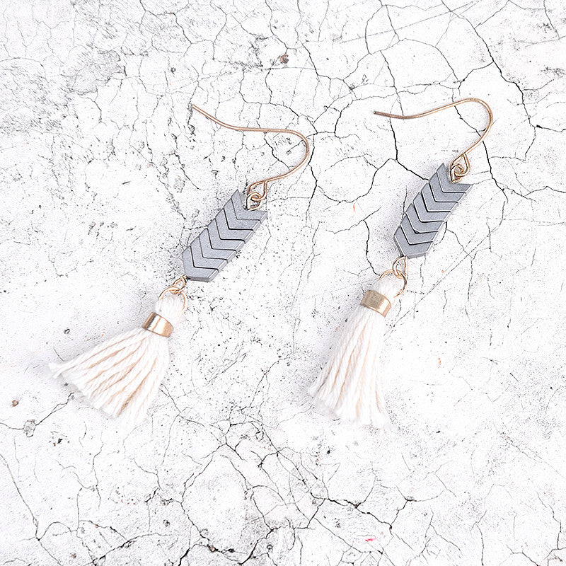 Tassel Silver Earrings - Chloe's Jewelry Box