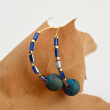 Natural Stone Round Blue Drop Earrings - Chloe's Jewelry Box