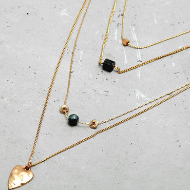 4 Layers Gold Chains Charm Necklace - Chloe's Jewelry Box