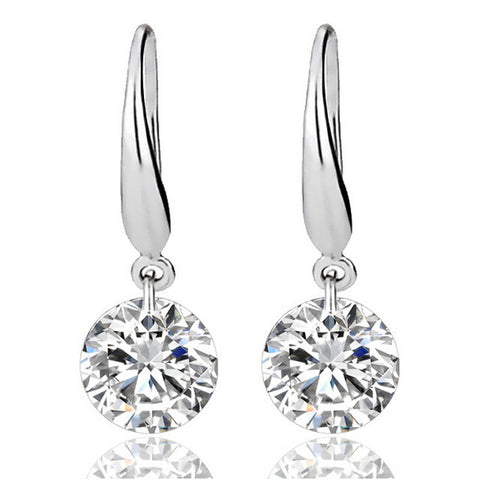 Classic Silver Princess Earrings - Chloe's Jewelry Box