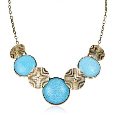 Bohemian Green Gem Maxi Necklace - Chloe's Jewelry Box